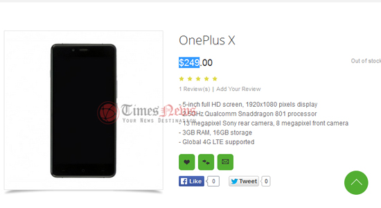 OnePlus X gelekt
