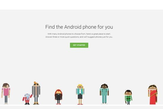 Phones select Android Google