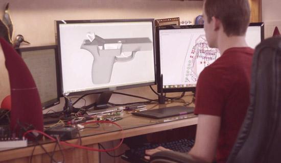Dit pistool blokkeert als de vingerafdruk niet matcht