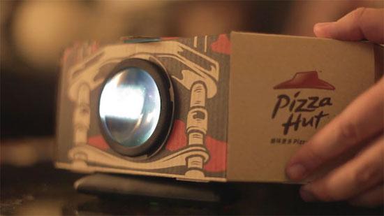 Pizza Hut introduceert pizzadoos met ingebouwde filmprojector