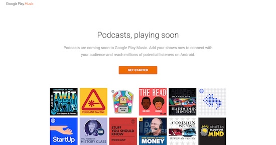 Podcasts met Google Play Music