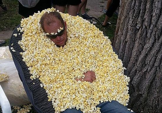 Fanatieke Popcorn Time gebruiker