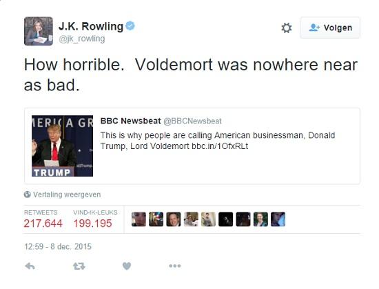 Rowling Trump Tweet