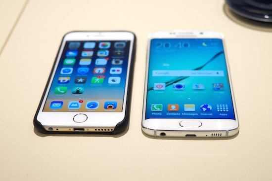 iphone 6 en samsung galaxy s6 edge