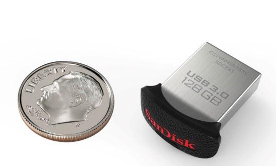 Sandisk 128 GB, wat is ie klein he?