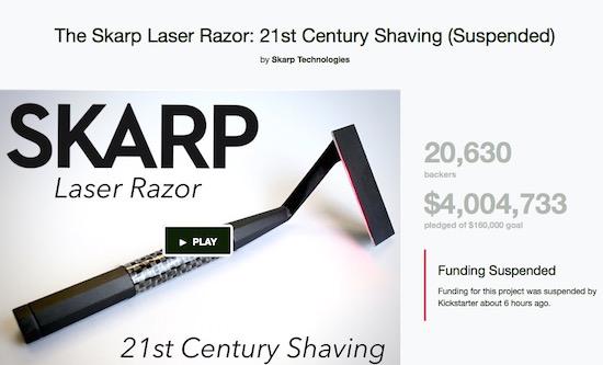 Kickstarterproject met laserscheermes blijkt een hoax