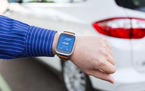 De smartwatch-app van Ford