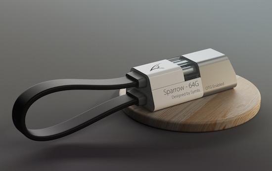 Sparrow: een USB-stick en oplader ineen