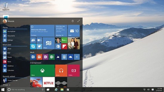 Het startmenu van Windows 10 is nog een beetje buggy