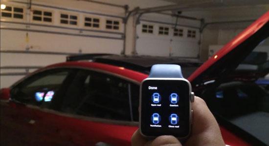 Demo: zo bestuur je de Tesla Model S met je Apple Watch