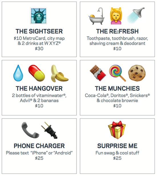Hotel laat gasten bestellen via Emoji's
