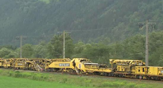 Treinrails-machine