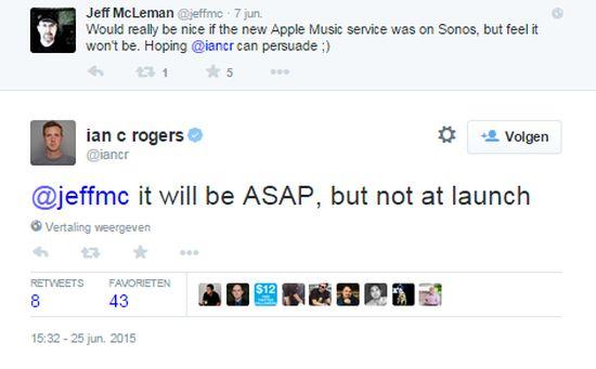 tweet sonos apple