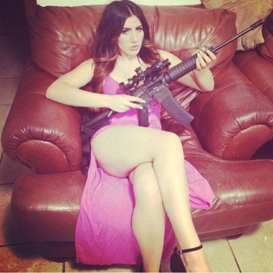 Vrouw kartel wapen