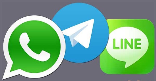 Whatsapp, Telegram en Line