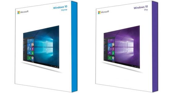 De fysieke versies van Windows 10