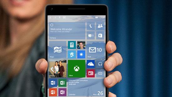 Windows 10 voor smartphones komt later
