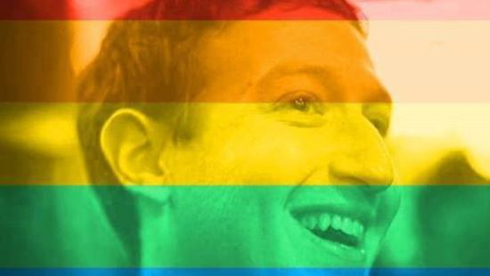 Zuckerberg rainbow