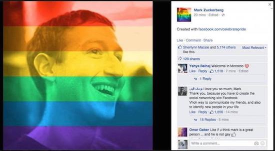 De facebook van Zuckerberg