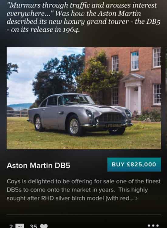 Gewoon even een Aston Martin via social media kopen