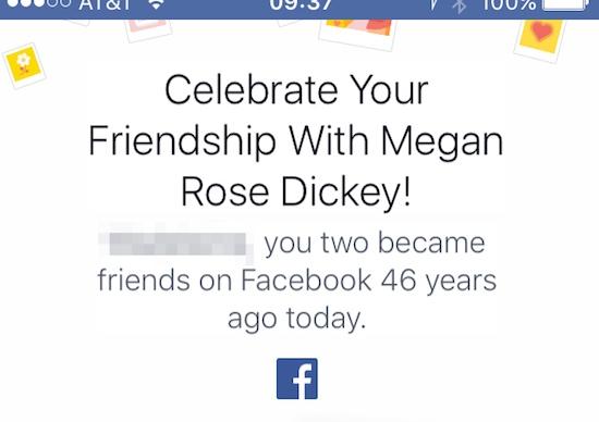 46 jaar vrienden op Facebook