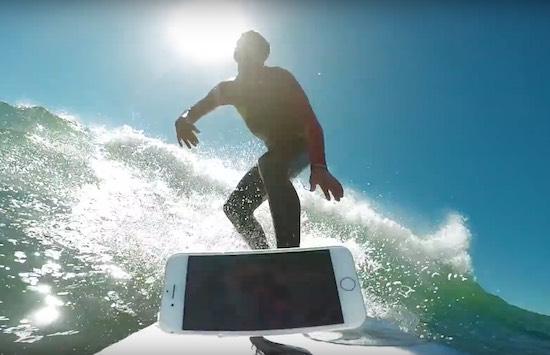 Video: surfer pakt een golfje met zijn iPhone 7
