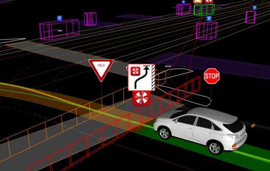 De auto's van Google moeten met heel zaken rekening houden