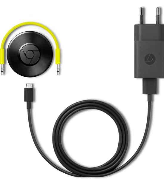 Geef de google chromecast stroom