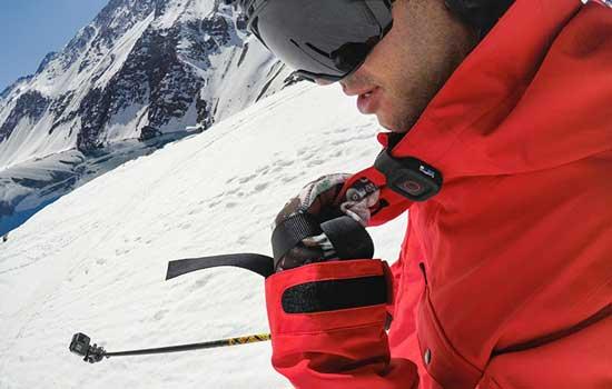 Lekker skien met afstandsbediening van GoPro