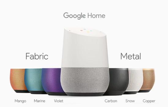Google Home heeft verschillende kleuren