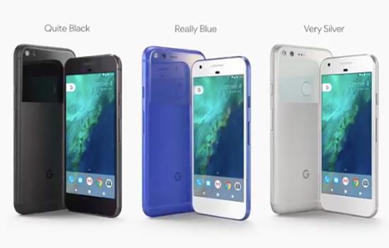 Google Pixel heeft 3 kleuren