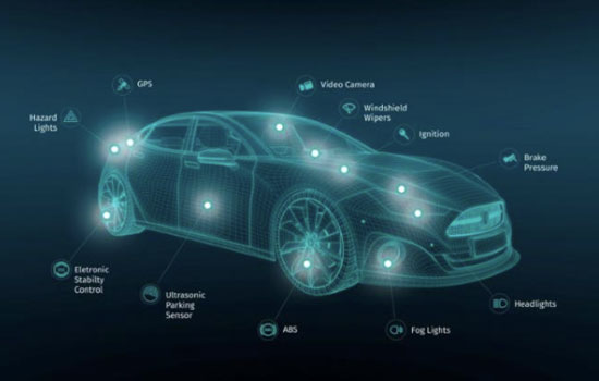 Here gaat live data van andere autos doorgeven