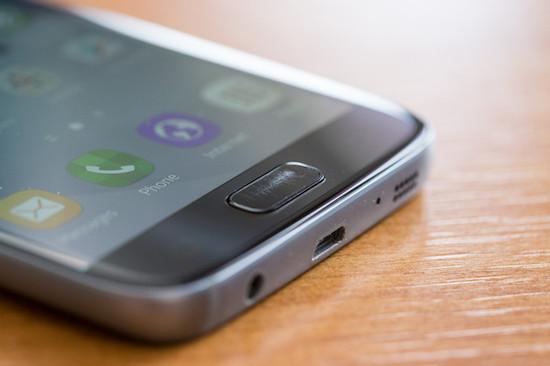 Home button Samsung Galaxy S7 behoorlijk krasgevoelig