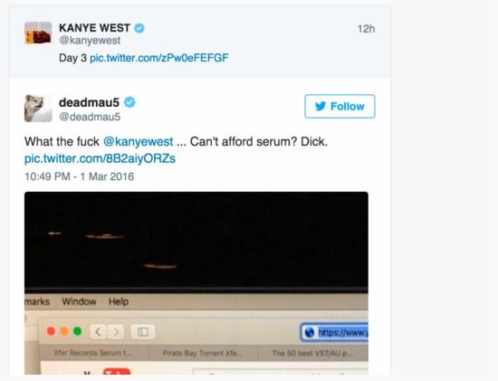 Kanye Deadmau5
