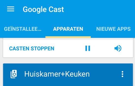 Installeer de app Google Cast