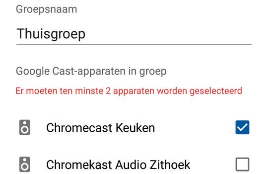 Maak eenvoudig zelf een groep aan met Google Chromecast