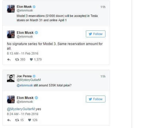 Musk tweets