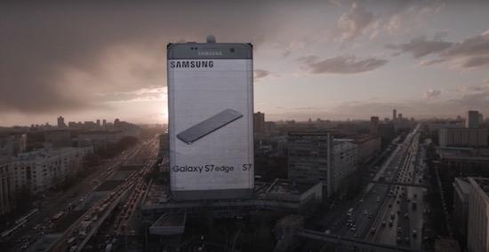 Samsung komt met enorm billboard in Rusland