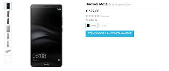 Huawei Mate 8 was al heel even te pre-orderen
