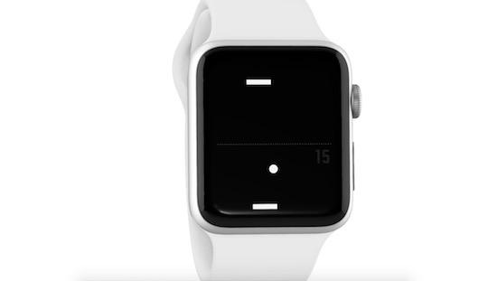 Pong speel je voortaan op je Apple Watch