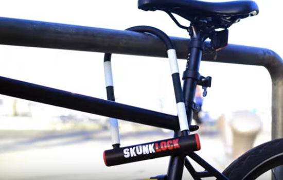 Met de Skunklock word je fiets nooit meer gestolen