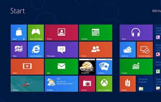 Geen startknop voor windows 8