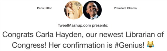 Twitter Mashup Obama Paris Hilton