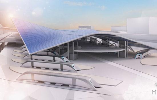 Zo gaat het station van de Hyperloop eruit zien