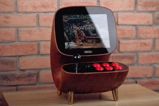 Prachtige houten arcade maakt hebberig
