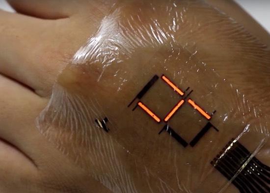 Onderzoekers komen met een display voor in je huid