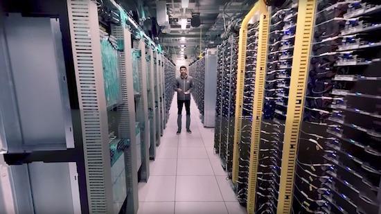 Zo ziet een datacentrum van Google eruit
