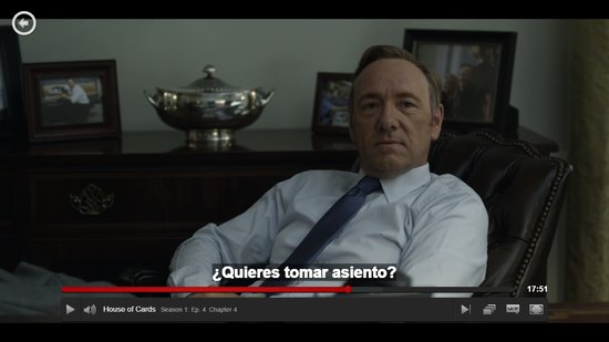 House of Cards in het Spaans. Of Portugees ofzo.
