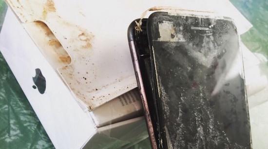 iphone 7 vliegt in de fik