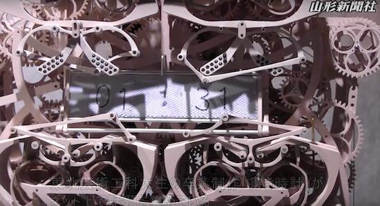 Video: dit is de meest bizarre klok die je vandaag gaat zien